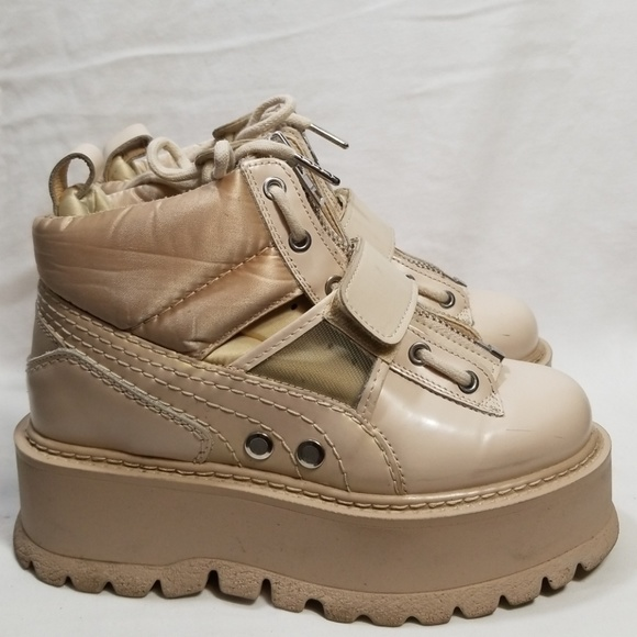lower price with 0dbd5 57b08 Fenty x Puma Marshmallow Platform Sneaker Boot 7.5